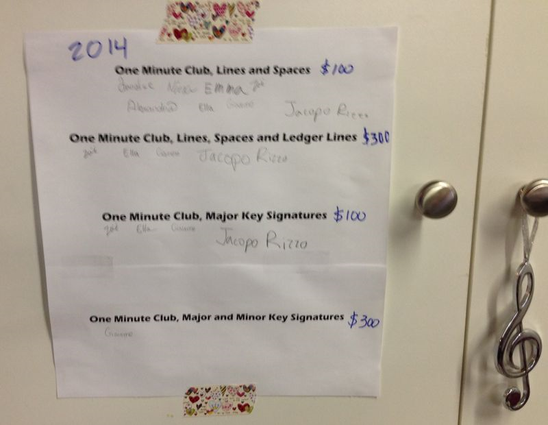 One minute club 2014